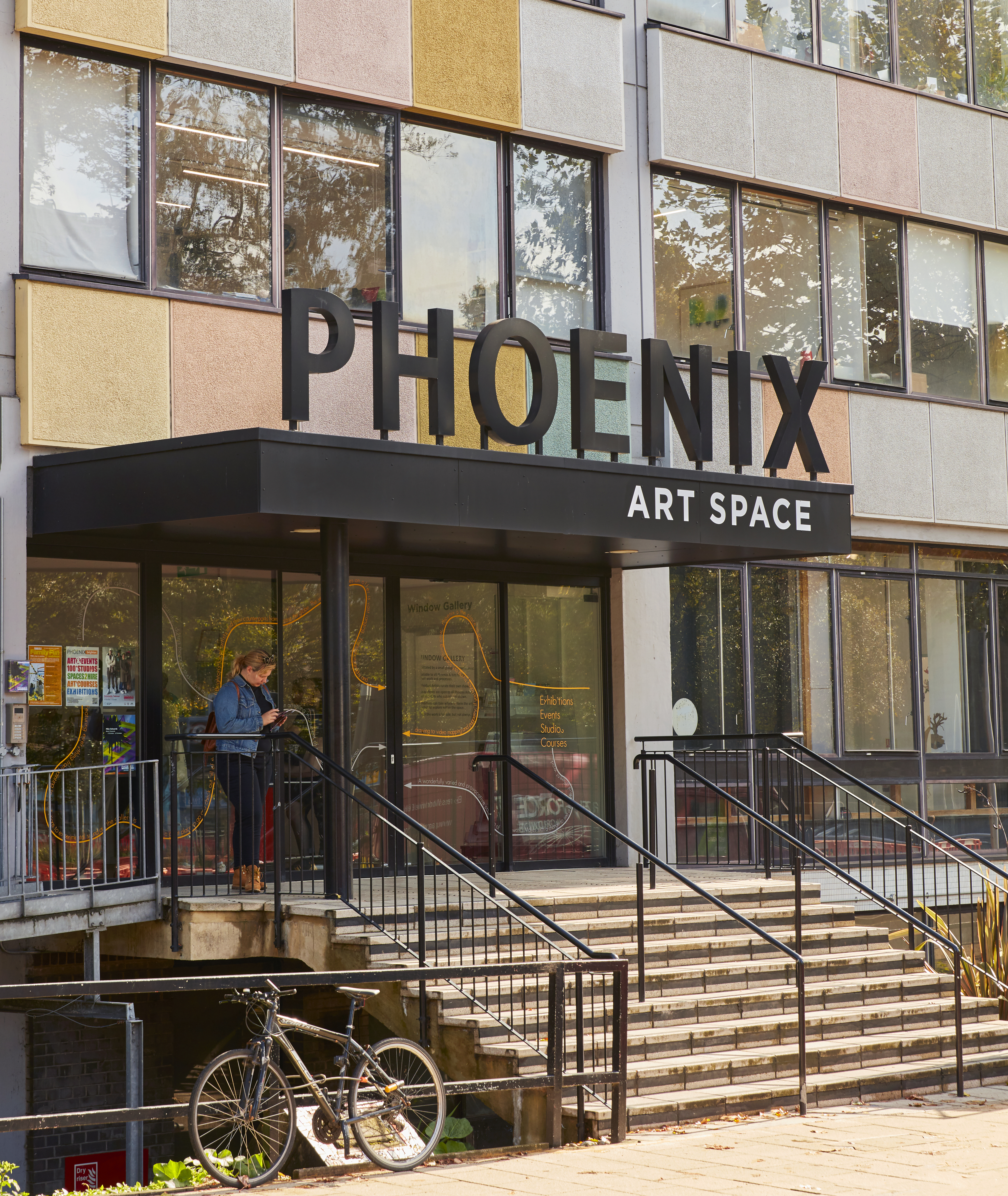 The entrance to the Phoenix Art Space